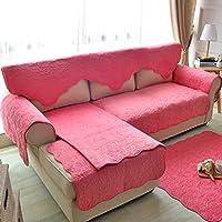 double-sided divano cuscini/American peluche doppio tre posti divano cuscini/ semplicità pastorale Sciarpa tinta Slipcover il divano-B 110x110cm(43x43inch)