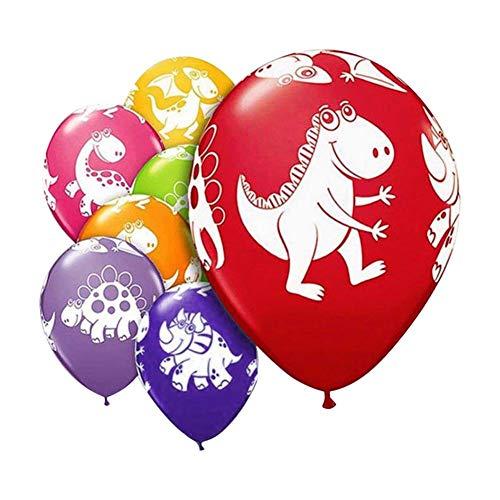 globos color de la fiesta decoración del globo 50PCS color al azar 12 pulgadas dibujos animados dinosaurio estilo globo de látex actividad decoración del partido globos