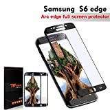 TEFOMATE Verre Trempé Galaxy S6 Edge, Verre Trempé Protection écran Full Glass Screen Protector pour Samsung Galaxy S6 Edge 5.1' [Curved 3D ] [Black]