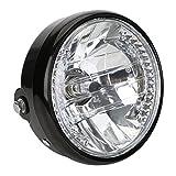OSAN Motorrad 7-Zoll H4 Hauptscheinwerfer Kopf Lampen 35W 12V Hi/Lo mit LED Standlichtring