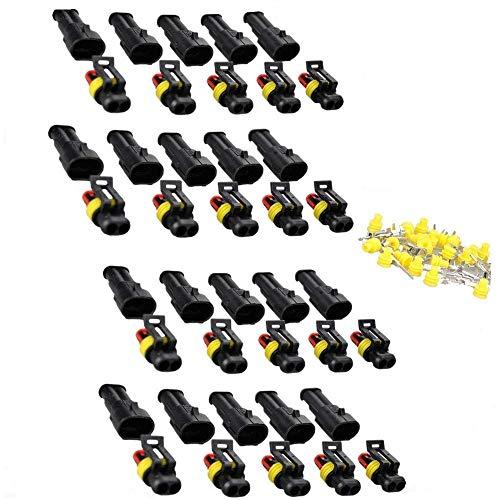 IMAGINE 2 Polig Stecker Wasserdicht Steckverbinder 20 Set 1.5mm Superseal -