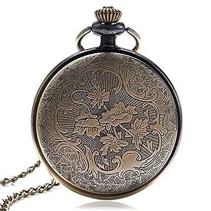 Herren-s-Pocket-Uhren-Antiken-rmischen-Nummer-Open-Face-Halskette-Quarz-Taschenuhr-Weihnachten-Geschenk-fr-Herren