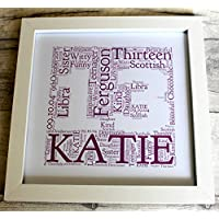 MadeAt94 13th birthday Gifts Frame For Girls and Boys Personalised