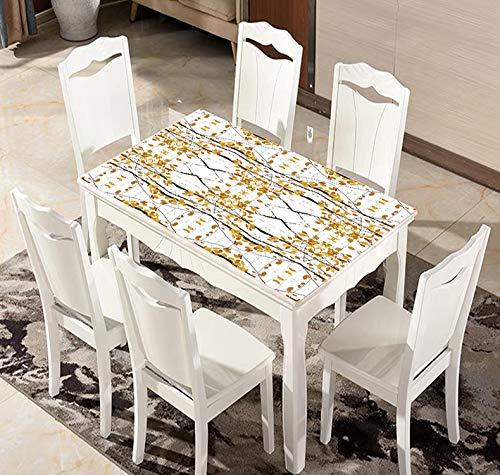 QWEASDZX Tischdecke Baumwoll- und Leinenstoff Digitaldruck Mehrzwecktischdecke Einfache und Moderne rechteckige Tischdecke Geeignet für Innen- und Außenbereich Quadratische Tischdecke 135x180cm