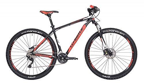 """Mountain Bike 29\"""" Whistle Patwin 1720 nero - rosso neon opaco 20V misura S 17\"""" (160-170cm)"""