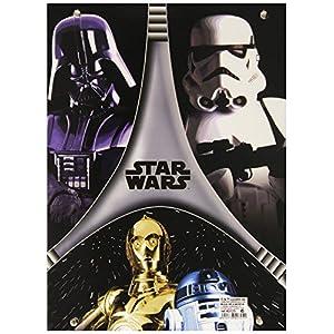 Star Wars - Carpeta gomas, color negro y gris (Montichelvo 40725) 1