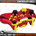 Iron Man Style Red and Gold Chrome Replacement Xbox Controller Shell