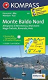 Monte Baldo Nord 1 : 25 000 (KOMPASS-Wanderkarten, Band 691) -