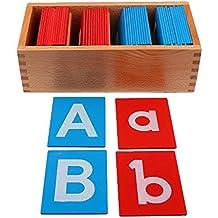 Sharplace Nuevo Montessori Educativos Juguetes de Alfabetos Aprendizaje Carta de Madera Regalo para Niños