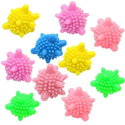 DreamJ 10PCS Trockner Bälle Wäsche Bälle Waschball Trocknerball Zufällige Farbe
