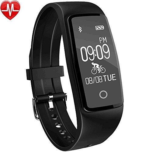 YAMAY® HR3 Fitness Tracker mit Pulsmesser Bluetooth Fitness Activität Tracker Schrittzähler Wasserdicht IP67 Armbanduhr mit Herzfrequenz / Schlafanalyse/Kalorienzähler/SMS SNS Wecker Vibration für Android und IOS Handys