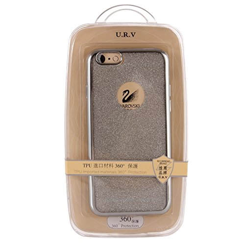 Wkae Case & Cover Housse de protection Electroplating flash poudre TPU pour iPhone 6 &6s ( Color : Grey ) Silver