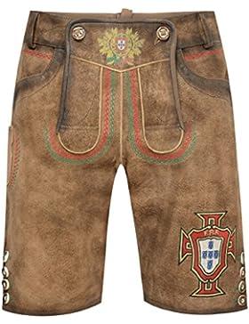 Krüger Kurze Lederhose Portugal in Braun