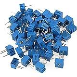 cnbtr 3362P-104alta precisión Variable resistencia potenciómetro, 100K Ohm potenciómetro azul Set de 50