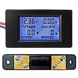 uniquegoods DC6.5-100V 4 en 1 Affichage LCD Tension Courant Puissance numérique Compteur d'énergie Multimètre Ampèremètre Voltmètre avec Shunt Current (0-50A)