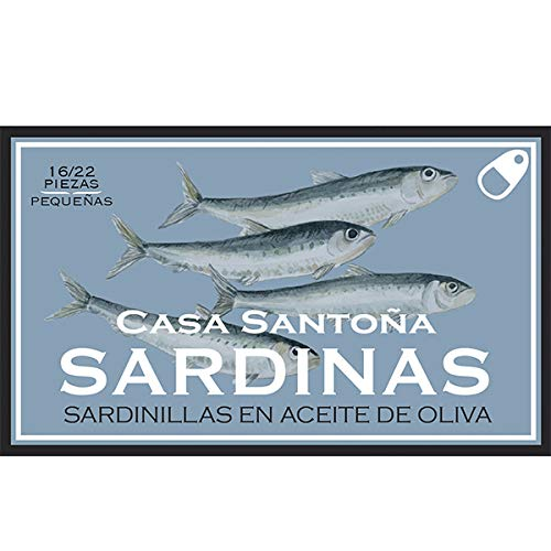 Mini sardine del mar Cantabrico in Olio d'Oliva (calibro 16-22 pesci per scatola) 115 gr