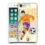 Head Case Designs Calcio Scivolata Mosse di Calcio Geometriche Cover Retro Rigida per iPhone 7 / iPhone 8