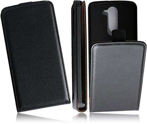 Case Premium Flip Cover PU Ledertasche Handytasche für LG L Bello D331 Flipstyle Schutz Hülle in Schwarz/Black