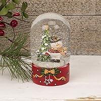 Christmas Markets Bola de Nieve de Navidad con Base Pintada de Color Rojo