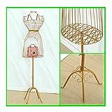 YUEWANG Donna Manichino Sartoriali Mannequin Mezzo Busto Busti for CucitoArte del Ferro Manichini A Appendiabiti da Sposa Espositore Finestra (Color : Gold, Size : Medium)