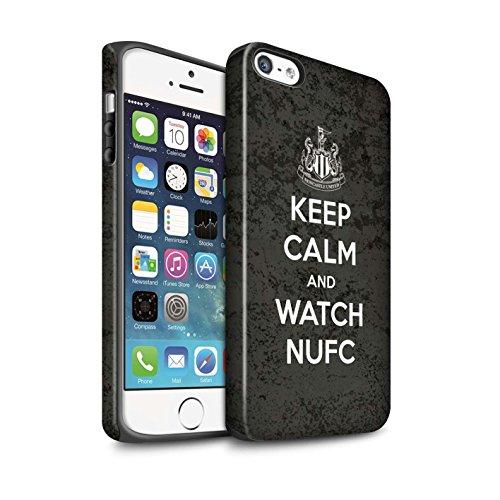 Offiziell Newcastle United FC Hülle / Matte Harten Stoßfest Case für Apple iPhone 5/5S / Pack 7pcs Muster / NUFC Keep Calm Kollektion Sehen NUFC