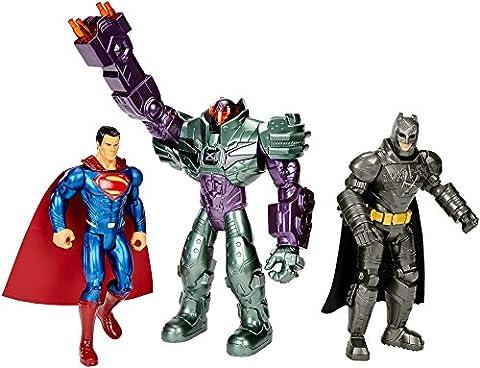 Mattel – Batman V Superman – DHY28 – Batman Superman & Lex Luthor – 3 Figurines Articulées