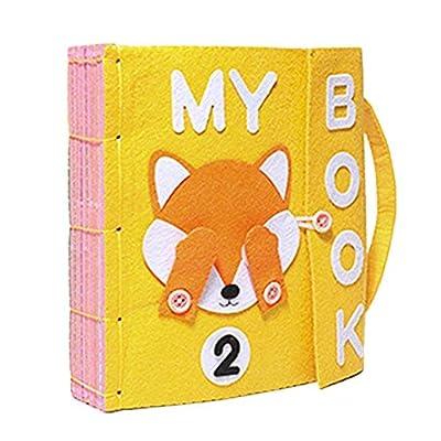Per Libros de Bricolaje Blandos de Material Montessori Tableros de Aprendizaje de Vestir y Conocer Objetos Libros de Bricolaje par aBebés de 1-3 Años de Per