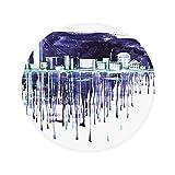 DIYthinker Nacht Sternenhimmel Moderne Stadt Aquarell Anti-Rutsch-Boden Haustier-Matten Runde Badezimmer Wohnzimmer Küche Tür 80 cm Geschenk 80 X 80Cm Mehrfarbig