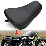 LEAGUE&CO Schwarz Motorrad Einzelsitz Schwingsattel für Harley Sportster Forty Eight XL1200 883 72 48