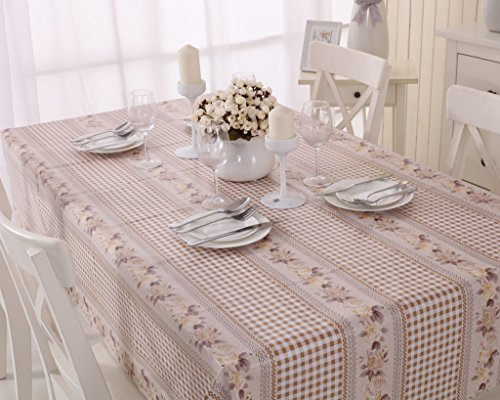 Vinylla Mantel para mesa de tela de guinga PVC