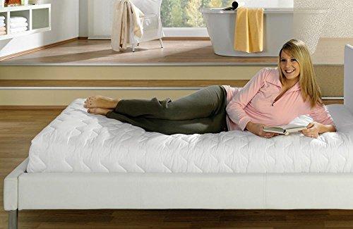 Vida GmbH Premium Matratzenschonbezug/Matratzenschoner / Matratzenbezug 140 x 200 cm für alle Matratzenhöhen Größe Gr. 1: Matratzenhöhe 12-14 cm