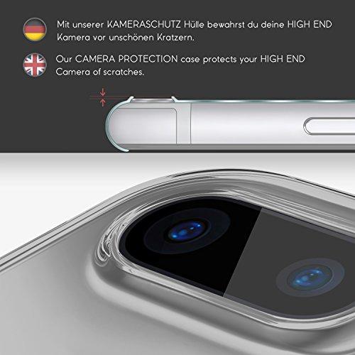 URCOVER® Caméra Protecteur Back Case Cover   iPhone 7 Plus   Gel TPU Silicone Doux Rose   Protection Arriere Coque Souple Étui Transparent Housse Mince Dessins Noir