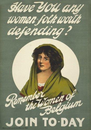 Vintage irlandese WW11914-18Propaganda have you any donne folk Worth difendere? 250gsm lucido arte della riproduzione A3poster