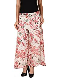 2DAY's Women Stylish Floral Print Georgette Plazzo