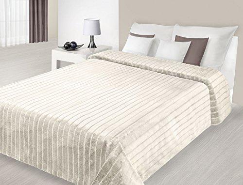 220 x 240 cm Tagesdecke beige Bettüberwurf pflegeleicht elegant modern simple