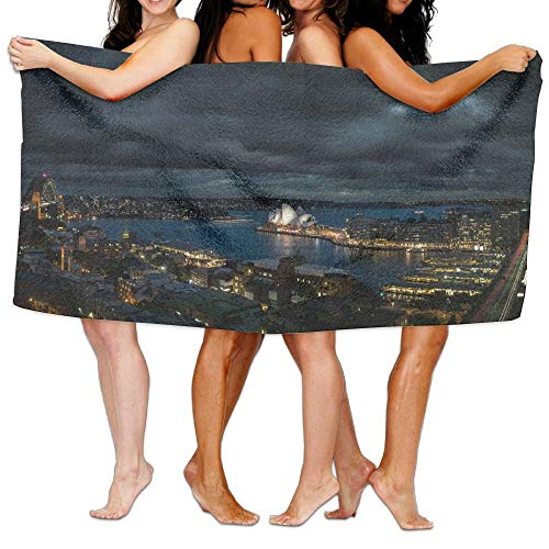 Night View of Sydney City Unisex Fashion Towel Personalized Print Beach Towels