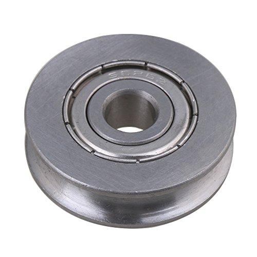 cnbtr 26x 25x 7mm U Form 440C Edelstahl versiegelt Umlenkrolle Schiene Kugellager Rolling Rad Silber -