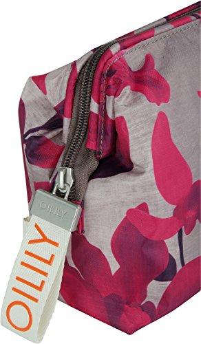 Oilily Ruffles Cosmeticpouch Lhz 2 - Pochette da giorno Donna, Rot (Dark Red), 11x18.5x25.5 cm (B x H T) 800 grey