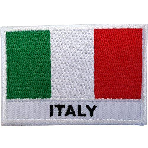 Italian Flag Patches (Italienische Flagge-Abzeichen, Eisennaht, Stickerei )