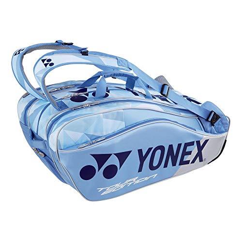 Yonex Thermobag 9829 Schlägertasche mit 3 Hauptfächern für Badminton, Tennis und Squash (hellblau)