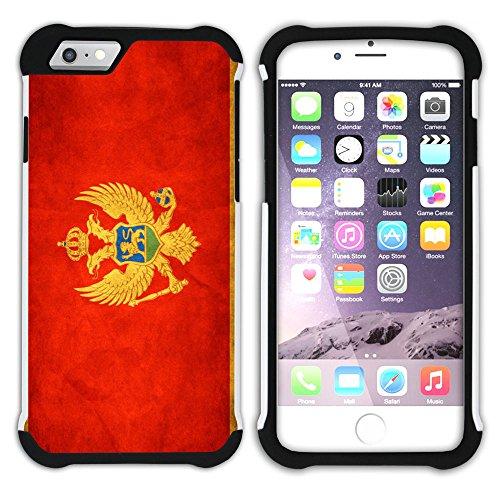 Graphic4You Vintage Uralt Flagge Von Finnland Finnisch Design Hart + Weiche Kratzfeste Hülle Case Schale Tasche Schutzhülle für Apple iPhone 6 / 6S Montenegro Montenegrinischen