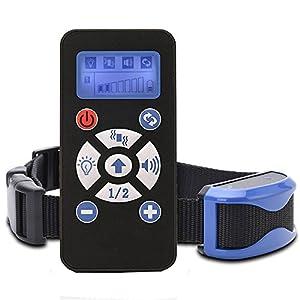 Chuangma Collier de Dressage Anti-aboiement Etanche Rechargeable pour Chien en Mode de Bip / Vibration?Flashlight et Automatique Ecran LCD pour Un Chien