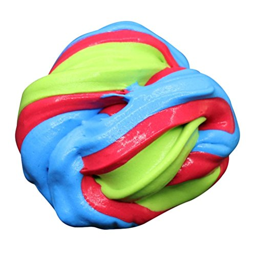 Fluffy Slime Spielzeug Xinan Kids Locker Floam Schleim Durtend Duftende Stress Relief Kids Clay (60ml, D =)