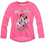 Minnie Mouse Kollektion 2016 Langarmshirt 86 92 98 104 110 116 122 128 Mädchen Shirt Top Maus Herbst Winter Rosa (122-128, Rosa)