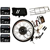 Electric Bike Kit 48V 1000W Front 26 Inch Wheel Hub Motor DIY Conversion Including Batteries