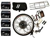 Electric Bike Kit 48V 1000W Front 26 Inch Wheel Hub Motor DIY Conversion Including Batteries