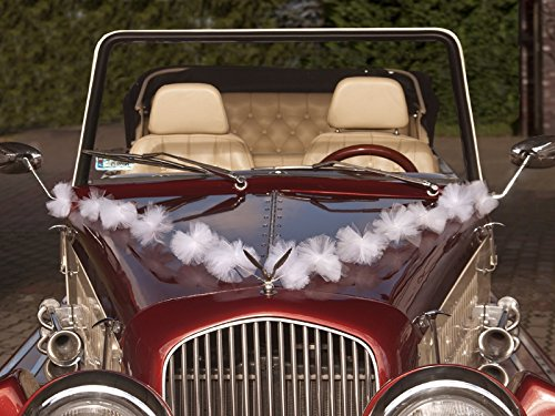 Autogirlande Girlandenset Autoschmuck Hochzeit Brautwagen Tüllgirlande