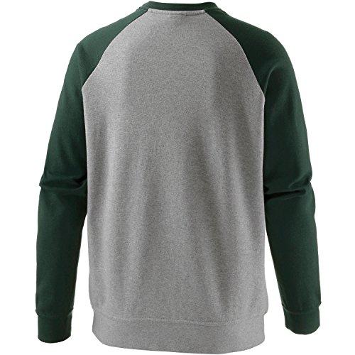 Iriedaily–Felpa da uomo, 2176372-400, graumelange/grün, XL graumelange/grün