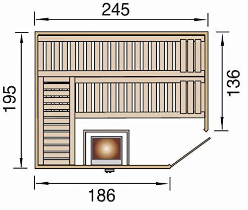 weka Design-Sauna KEMI Eck 2 GT, Sparset