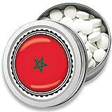 FAN Mint | 3er Set Pfefferminz Bonbons mit Marokko Flagge | Geschenk, Souvenir Marokko Fahne | Bonbon-Dose, Fan-Artikel, Party Deko (Marokko)